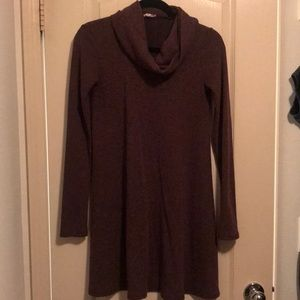 Socialite eggplant cowl neck sweater dress